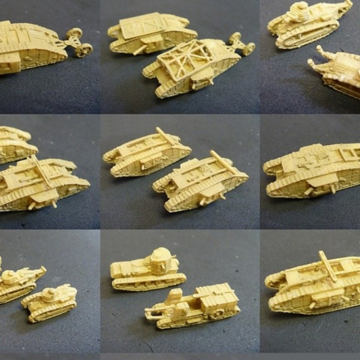 1:200 WWI Tanks