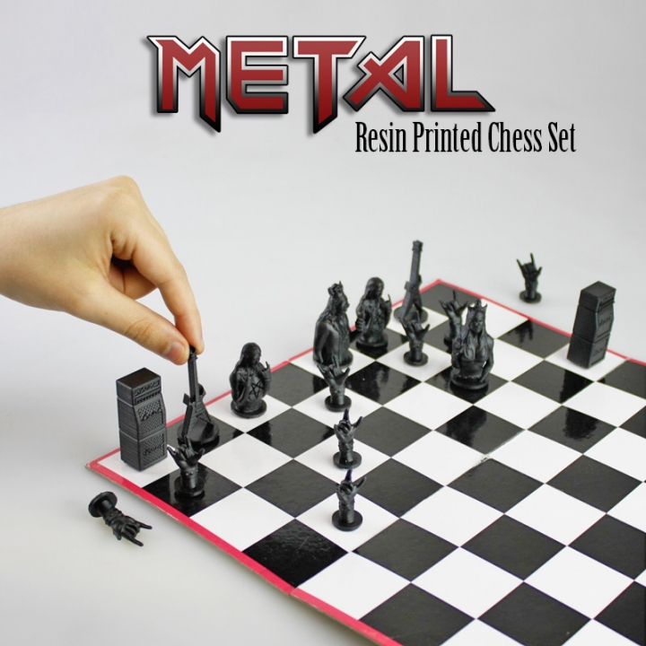 Metal Chess Set! (Resin print)