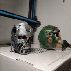 Picture of print of T-800 Terminator Skull