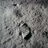 Lunar Surface with Bootprint image