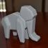 Poly style Elephant image
