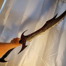 Picture of print of Daedric Sword - Skyrim