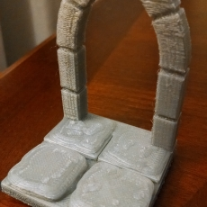 Stone Dungeon Floor with Arched Doorway (OpenForge compatible)