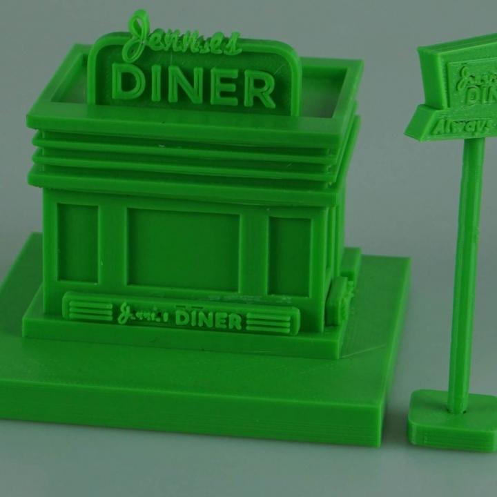 Cartoon Building - Diner