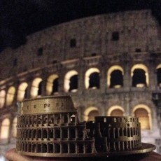 Picture of print of Colosseum in Rome, Italy