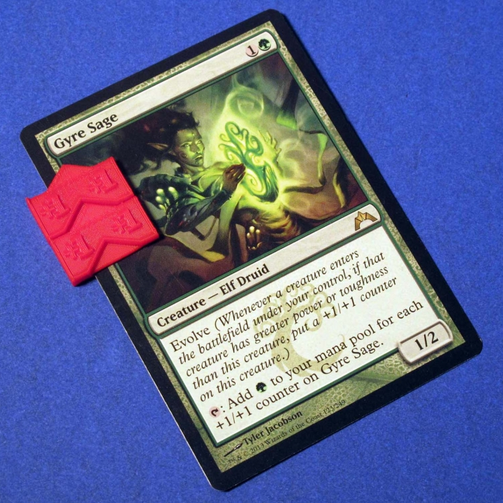 graphic relating to Magic the Gathering Printable titled 3D Printable Magic The Collecting Counter Clips by way of Zheng3