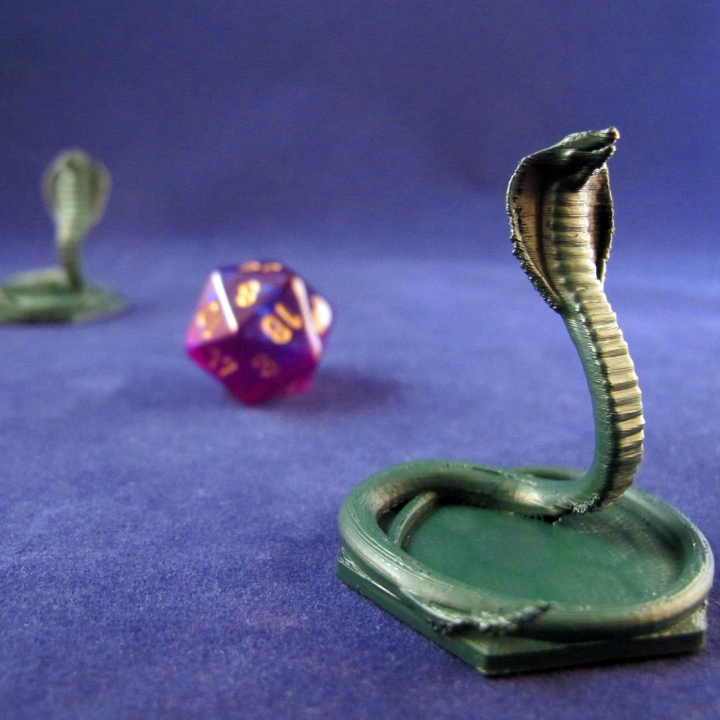 image regarding Mtg Tokens Printable named 3D Printable Magic The Amassing Snake Token by means of Zheng3