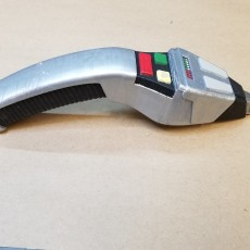 Picture of print of star trek phaser type 2 from the next gen movies in two pieces