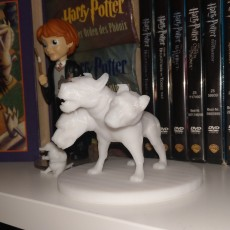 Picture of print of Fluffy from Harry Potter