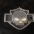 Harley Davidson Skull Keychain (Multicolor) image