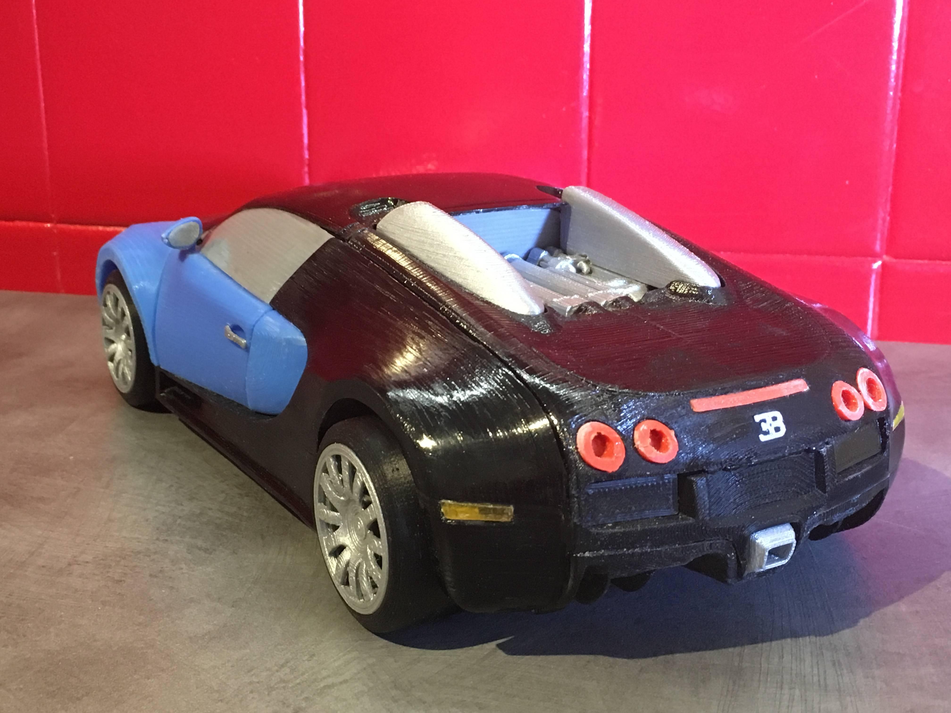 3D Printable Bugatti Veyron by Hbot3D