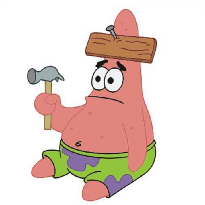 Hammered  Patrick!