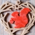 Squirrel in Wooden Heart necklace image