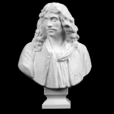 Bust of Moliere at The Reunion des Musees Nationaux, Paris