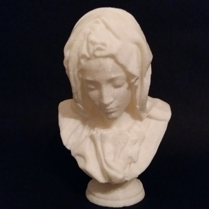 Picture of print of Bust of Mary from Pietà in St. Peter's Basilica, Vatican This print has been uploaded by david marcano