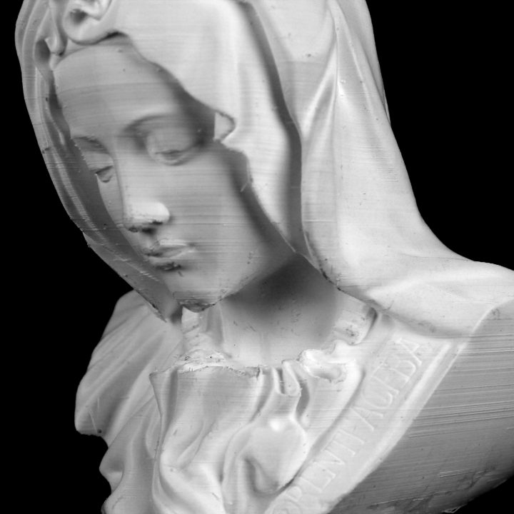 Bust of Mary from Pieta in St. Peter's Basilica, Vatican