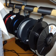 Picture of print of The Filament Hanger (spool holder and storage solution) 这个打印已上传 Joshua Dennis