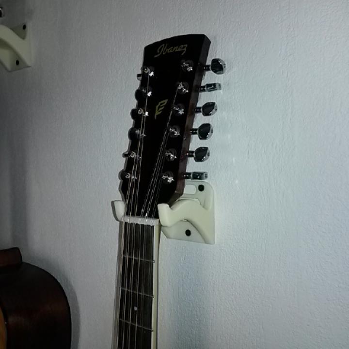 Guitar Wall Mount With Guitar Pick Shelf