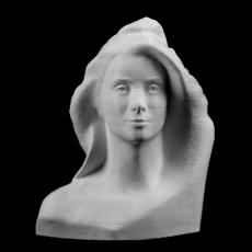Bust of Marianne (Catherine Deneuve) at The Reunion des Musees Nationaux, Paris