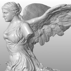 Venus head Meshup with Winged Victory of Samothrace