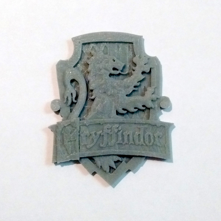 3D Printable Gryffindor House Badge