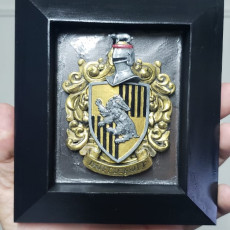 Picture of print of Hufflepuff Coat of Arms Wall/Desk Display - Harry Potter