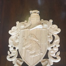 Picture of print of Hufflepuff Coat of Arms Wall/Desk Display - Harry Potter Cet objet imprimé a été téléchargé par Tchad Rogers