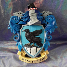 Picture of print of Ravenclaw Coat of Arms Wall/Desk Display - Harry Potter