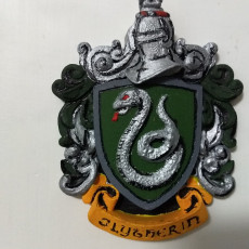 Picture of print of Syltherin Coat of Arms Wall/Desk Display - Harry Potter
