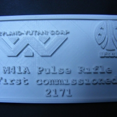 M41A Pulse Rifle - Display plaque