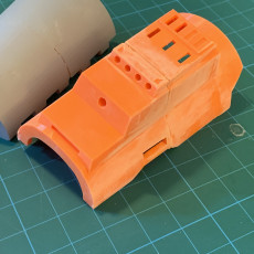 Picture of print of Death Watch Mandalorian Gauntlets MKII (Male) with Integrated Hinge.