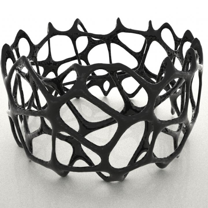 Voronoi Doubleshell Bracelet