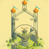 Monument Valley Desktop Toy Rotator Section image