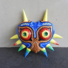 Picture of print of Majora's Mask life size