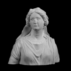 Bust of a Woman : Ariadne at The Louvre, Paris