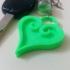 Kingdom Hearts Heart Keychain image