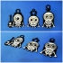 Minions Keychain / Magnets - Skull / Skeleton Version image
