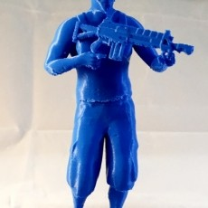GTA character Frank with rifle