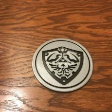 Picture of print of Zelda Coaster - Hylian Shield