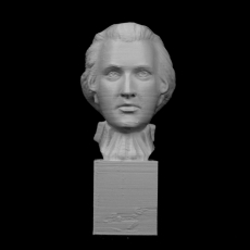 Bust of Mozart at The Reunion des Musees Nationaux, Paris