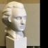 Bust of Mozart at The Réunion des Musées Nationaux, Paris print image