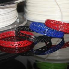 Flexible NinjaFlex Ellipsoidal Bracelet