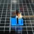 Floppy disk drive stepper motor mount print image