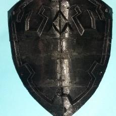 Hyrule shield, split