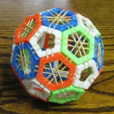 Picture of print of Truncated icosahedron puzzle 这个打印已上传 Mark Swihart