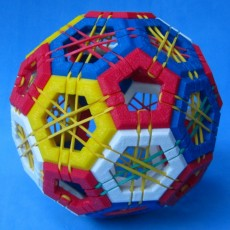 Picture of print of Truncated icosahedron puzzle