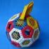 Truncated icosahedron puzzle print image