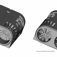 Picture of print of Jet Engine Housing for Rear Bike Light