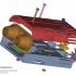 Jet Engine Housing for Rear Bike Light print image