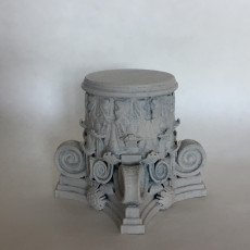 Picture of print of Corithian capital - Print it upside down